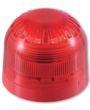 AS2366 – Sirena/lampegg. indirizzab. serie 2000 alim. dal loop – Rossa e con lenti rosse