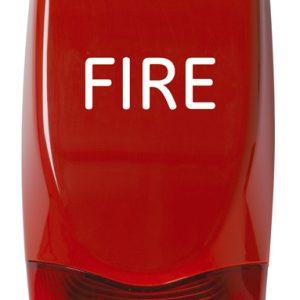 AS371 – Sirena antincendio ad alta potenza con lampeggiante, da esterno, EN54, CPD