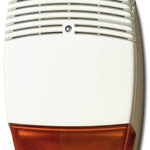 AS612 – Sirena da estrerno in policarbonato con lampeggiante e coperchio interno