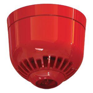 ASC366 – Avvisatore ottico/acustico multitono, montaggio a soffitto, lampeggiante rosso