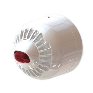 ASW366W – Avvisatote ottico/acustico multitono , montaggio a parete, lampeggiante rosso