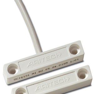 DC101 – Contatto magnetico a giorno con cavo. GAP 15 mm Omologato IMQ I liv.