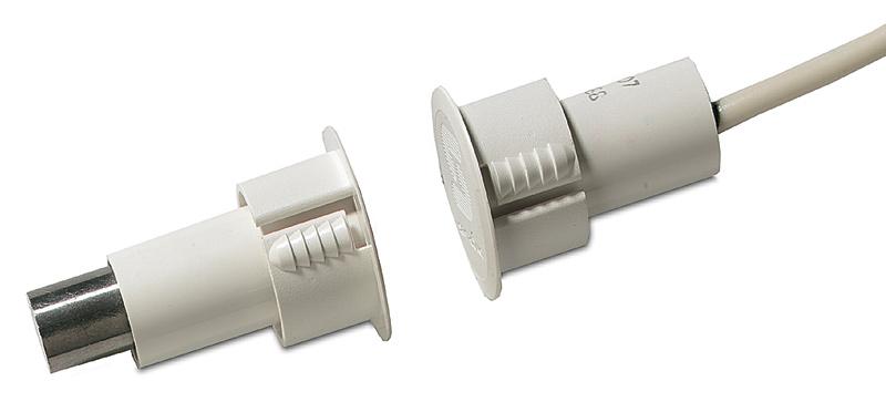 DC107 – Contatto magnetico ad incasso per porte in ferro con cavo GAP 9 mm.