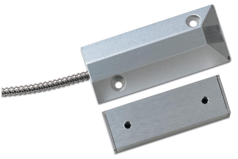DC110 – Contatto magnetico in alluminio, a pavimento. Bilanciato. GAP 19 – 63 mm.