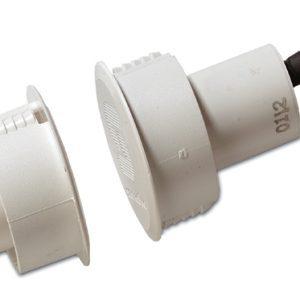 DC125 – Contatto magnetico bilanciato ad incasso per porte in ferro con cavo GAP 12 mm