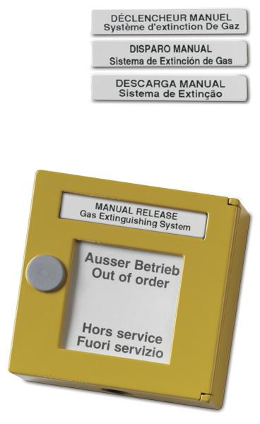 DM861-4 – Pulsante manuale giallo di attivaz spegnimento in Italiano Spagnolo e Portoghese