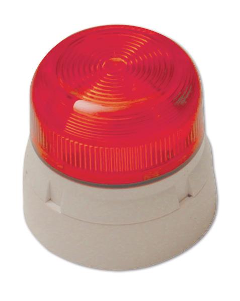 FA340 – Lampeggiante allo Xenon, lente rossa, base bianca