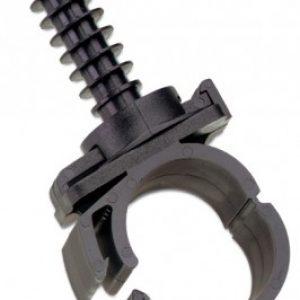 FHSD777CE – Clip di ancoraggio per tubo di campionatura rigido in pvc da parete e/o soffitto