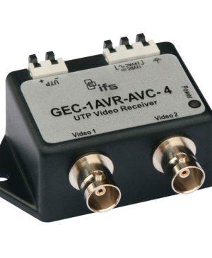GEC-1AVR-AVC-4 – Ricevitore video attivo su UTP a singolo canale