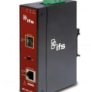 MC352-1P/1S – Gigabit Ethernet to SFP Industrial Managed Media Converter