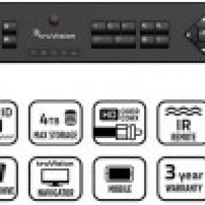 TVR15CHD – TruVision™ DVR 15c HD, HD-TVI Hybrid 4 channel compact recorder