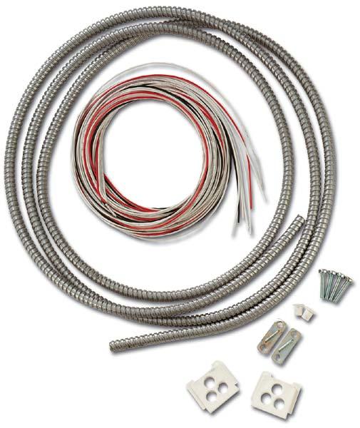 VM654P – Kit di cablaggio con guaina metallica per rivelatori sismici