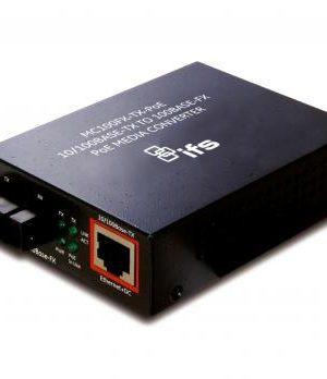 MC100FX-TX-POE – 100Base-FX To 10/100Base-TX Media Converter + PoE Injector