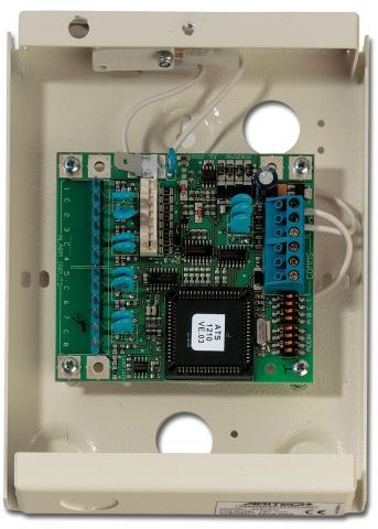 ATS1211E – Concentratore 8 zone 8 uscite, contenitore metallico. EN50131 Grado 3