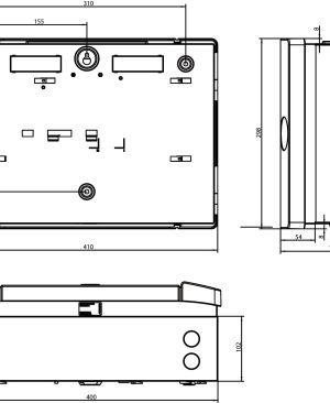 2X-F1-S-10 Centrale di rivelazione incendi analogico/indirizzata 1 loop